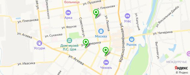 ночные клубы на карте Уссурийска
