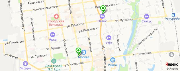 вегетарианские кафе на карте Уссурийска