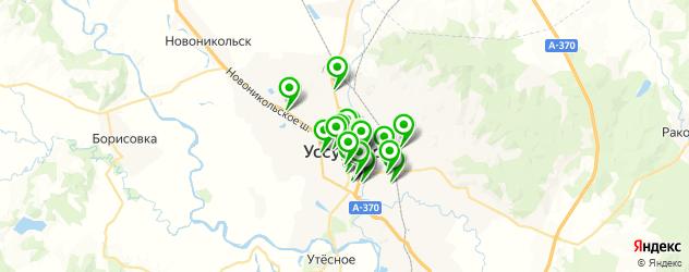 бесплатный Wi-Fi на карте Уссурийска