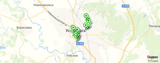 общежития на карте Уссурийска