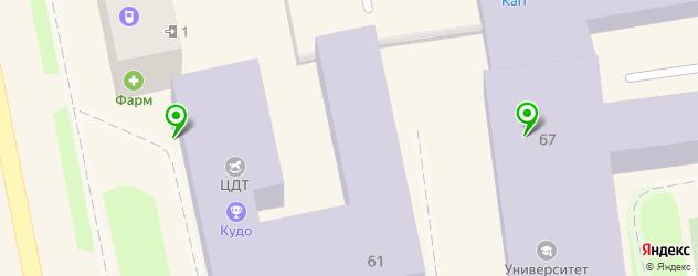 спортивные школы на карте Уссурийска
