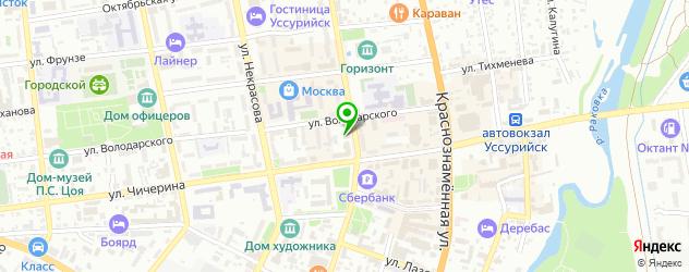 постные меню в ресторанах на карте Уссурийска