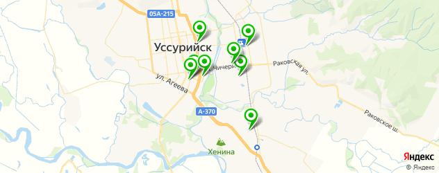 бары с живой музыкой на карте Уссурийска