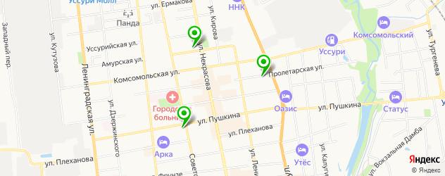 стоматологические поликлиники на карте Уссурийска