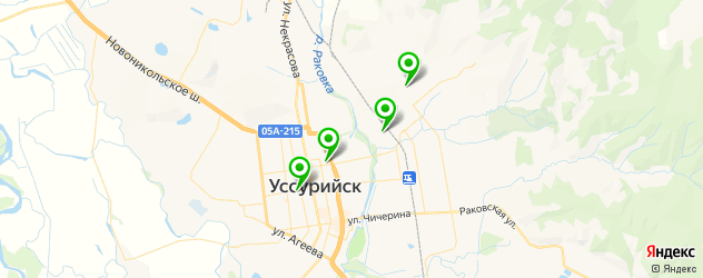бассейны на карте Уссурийска
