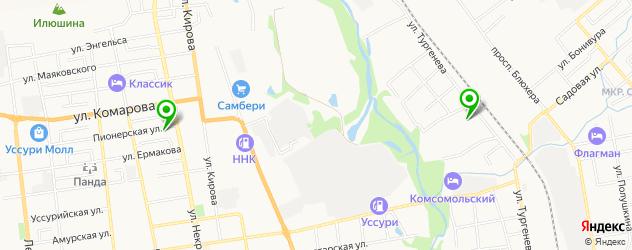 караоке-клубы на карте Уссурийска