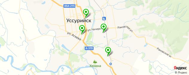 бары с танцполом на карте Уссурийска