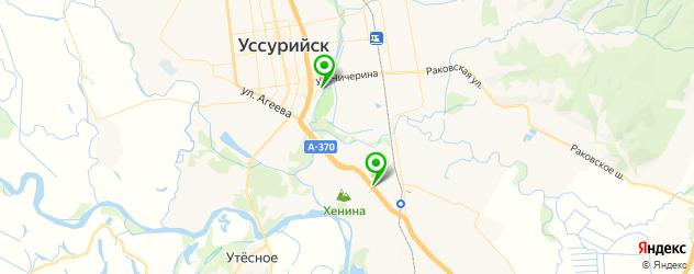 йога-центры на карте Уссурийска