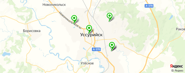 караоке на карте Уссурийска