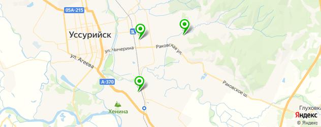 детские больницы на карте Уссурийска