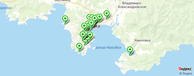бани на карте Находки
