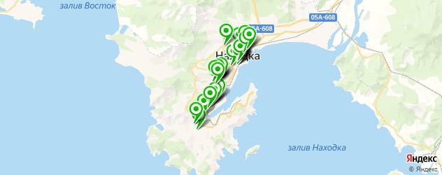 банки на карте Находки