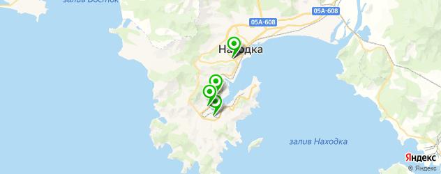 спортивные секции на карте Находки
