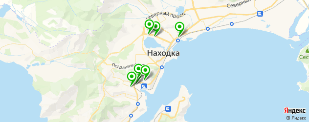 пиццерии на карте Находки