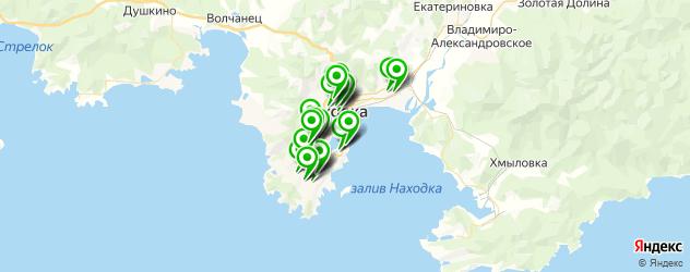 автостоянки на карте Находки