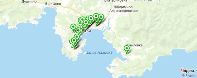 шиномонтажи на карте Находки