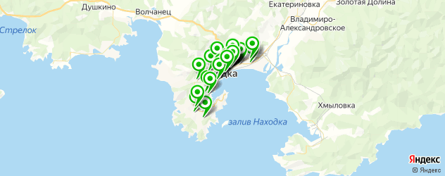 Авто на карте Находки