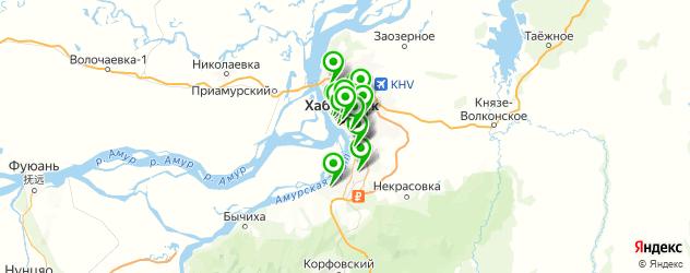 пирсинги салон на карте Хабаровска