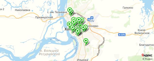 кафе с танцполом на карте Хабаровска