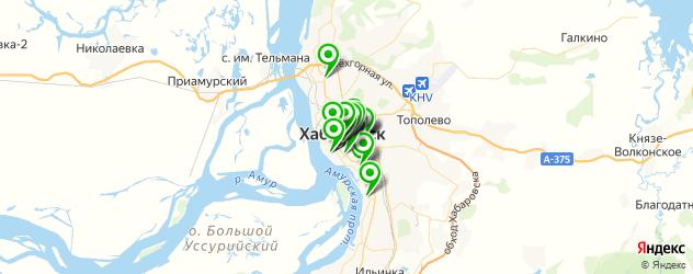 пицца на карте Хабаровска