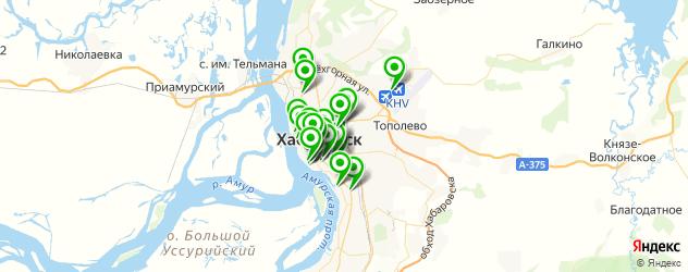 институты на карте Хабаровска