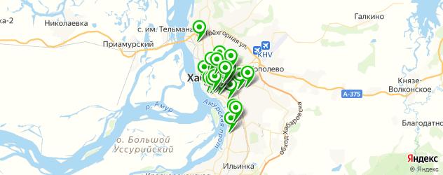 студии загара на карте Хабаровска