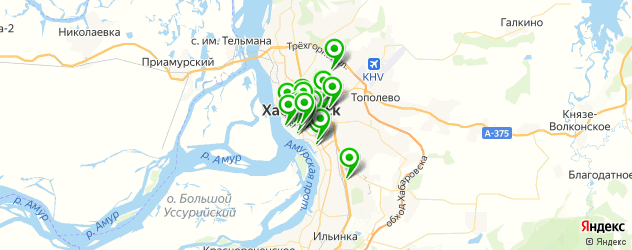 живая музыка на карте Хабаровска