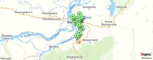 рестораны с живой музыкой на карте Хабаровска