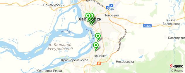 экскурсии на карте Хабаровска