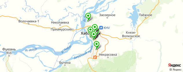 салоны бровей на карте Хабаровска