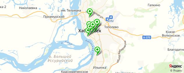 вегетарианские рестораны на карте Хабаровска