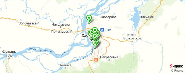массажные салоны на карте Хабаровска
