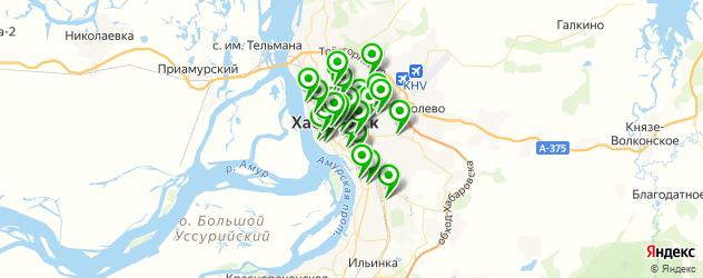рестораны с танцполом на карте Хабаровска