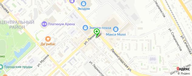 Бесплатный анализ на гепатит на карте Ленинградской улицы