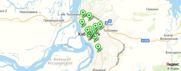 бары с живой музыкой на карте Хабаровска