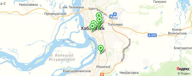 рестораны с детской комнатой на карте Хабаровска