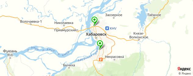 парковки на карте Хабаровска