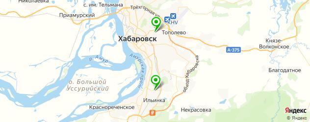 пекарни на карте Хабаровска