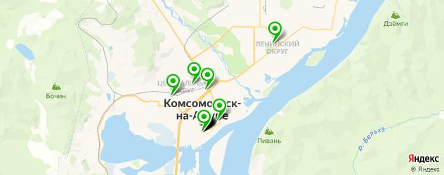 эвакуаторы на карте Комсомольска-на-Амуре