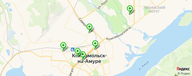 кадровые агентства на карте Комсомольска-на-Амуре