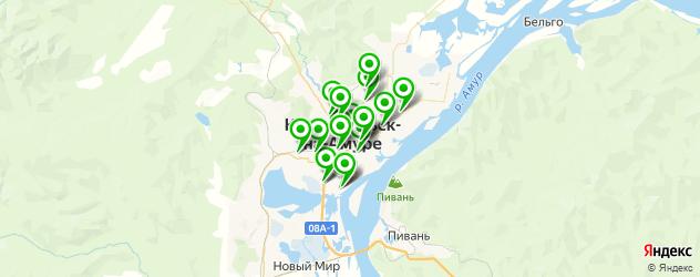 АЗСЫ на карте Комсомольска-на-Амуре
