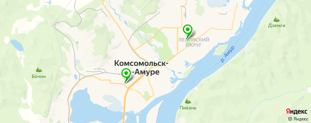 художественные школы на карте Комсомольска-на-Амуре