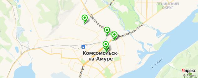 спортивные школы на карте Комсомольска-на-Амуре