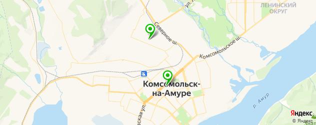 НИИ на карте Комсомольска-на-Амуре