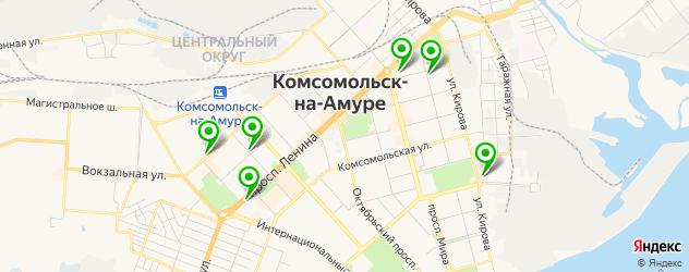 тату салон на карте Комсомольска-на-Амуре