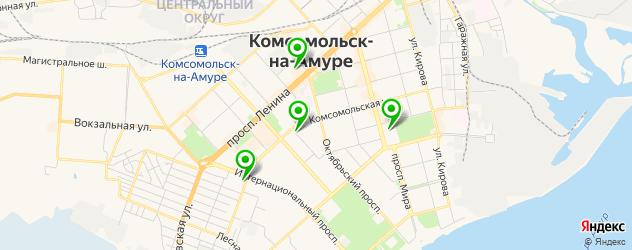 академии на карте Комсомольска-на-Амуре