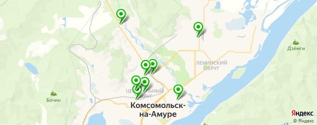 тюнинги-магазины на карте Комсомольска-на-Амуре