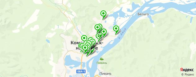Бытовые услуги на карте Комсомольска-на-Амуре