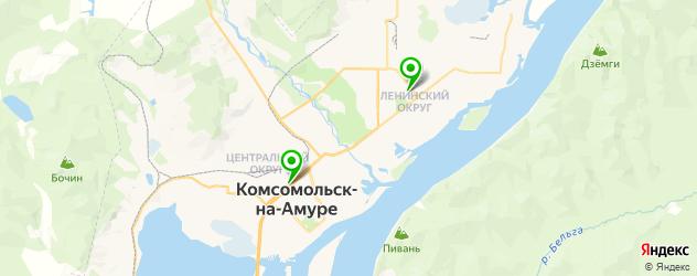 русские рестораны на карте Комсомольска-на-Амуре