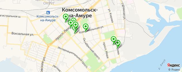 ВУЗы на карте Комсомольска-на-Амуре